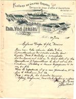 1 Faktuur Mol Moll Filature De Laines Cardées Fabrique De Draps,Etoffes&Couvertures EdM.Van Iersel C1911 - Belgique