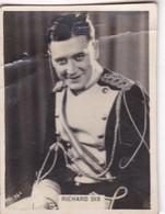 RICHARD DIX. CIGARRILLOS CRACK. CARD TARJETA COLECCIONABLE TABACO. CIRCA 1940s SIZE 5x6cm - BLEUP - Personalità