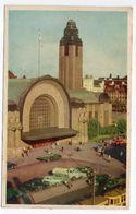 Finlande -- HELSINKI --1958 --- La Gare ( Voitures , Camions )  ....timbre -- Cachet SAMMATTI  ..... à  Saisir - Finlande