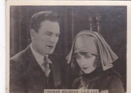 THOMAS MEIGHAN, LILA LEE. CIGARRILLOS CRACK. CARD TARJETA COLECCIONABLE TABACO. CIRCA 1940s SIZE 5x6cm - BLEUP - Berühmtheiten