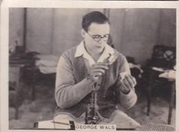 GEORGE WALS. CIGARRILLOS CRACK. CARD TARJETA COLECCIONABLE TABACO. CIRCA 1940s SIZE 5x6cm - BLEUP - Personalità