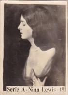 NINA LEWIS. SUPER. CARD TARJETA COLECCIONABLE TABACO. CIRCA 1940s SIZE 5x6cm - BLEUP - Personalità