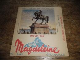 Buvard Ancien Biscottes Magdeleine Granville, Napoleon - Cherbourg N°11 - Biscottes