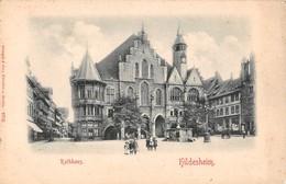 """0523 """"HILDESHEIM - RATHAUS"""" ANIMATA E CON STAMPA DELL'ILLUSTRAZIONE IN RILIEVO. CART. ORIG. NON SPED. - Hildesheim"""
