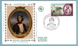 FDC France 1969 - Napoléon Bonaparte - YT 1610 - 20 Ajaccio - FDC