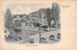 """0524 """"SARAJEVO - PARTIE ALIFAKOVAC"""" ANIMATA E CON STAMPA DELL'ILLUSTRAZIONE IN RILIEVO. CART. ORIG. NON SPED. - Bosnia Erzegovina"""