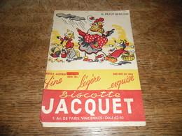 Buvard Ancien Biscottes Jacquet Il Pleut Bergère - Biscottes