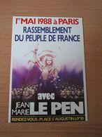 Carte Postale Front National Jean Marie Le Pen 1998 1er Mai - Partis Politiques & élections