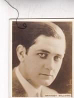 BRANSSY WILLIAMS. SUPER CIGARRILLOS. CARD TARJETA COLECCIONABLE TABACO. CIRCA 1930s SIZE 5.5x6.5cm - BLEUP - Personalità