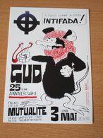 CARTE POSTALE GUD INTIFADA CROIX CELTIQUE - Partis Politiques & élections