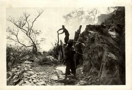 LAOS  Xieng Khouang ROAD CONSTRUCTION  INDOCHINE   18 * 13 CM Fonds Victor FORBIN 1864-1947 - Lugares