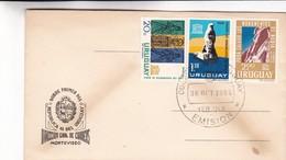PARA SALVAR LOS MONUMENTOS DE NUBIA-FDC 1964 URUGUAY - BLEUP - Uruguay