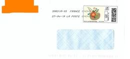 """Montimbrenligne Lettre Verte 20 Gr """"panier De Fleurs"""" Toshiba - France"""