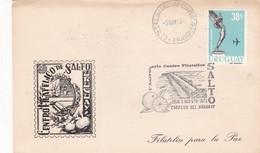 5 ANIVERSARIO CENTRO FILATELICO SALTO-SPECIAL COVER CARD 1973 URUGUAY - BLEUP - Uruguay