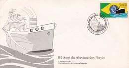 180 ANOS DA ABERTORA DOS PORTOS-FDC 1983 RIO DE JANEIRO, BRASIL BRESIL BRAZIL - BLEUP - FDC