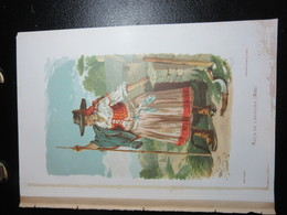 PORTUGAL. COLOUR PRINT. LOCAL COSTUMES. M MACEDO. MOCA DE LAVOURA - MINHO. REMOVED FROM A BOOK - Prints & Engravings