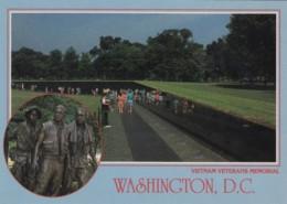 Vietnam War Veterans Memorial Washington DC, Names Of War Dead, Statue Of Soldiers, C1990s Vintage Postcard - War Memorials