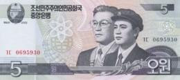 Lot Of 3 North Korea 2002 Banknotes, #58 5 Won, #59 10 Won And #60 50 Won - Korea, North