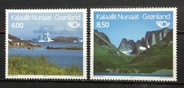 GREENLAND # 289-290.  Tourism - Iceberg / Mountains.  MNH (**) - Unused Stamps