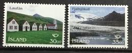 ICELAND 799-800.  Turf Farmhouses, Church & Glacier. MNH (**) - 1944-... Republic