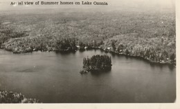 Aerial View Of Summer Homes On Lake Ozonia, New York R P P C - NY - New York