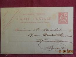 Carte-lettre Type Mouchon Retouché - Cartes Postales Types Et TSC (avant 1995)