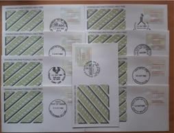 ATM AUSTRALIA 1985. 9 SPD - FDC MATASELLOS CONMEMORATIVOS. - ATM - Frama (viñetas)