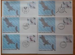 ATM AUSTRALIA 1986. 6 SPD - FDC MATASELLOS CONMEMORATIVOS. - ATM - Frama (viñetas)