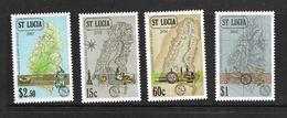 SAINTE LUCIE 1987 CARTES DE L'ILE  YVERT N°870/73 NEUF MNH** - St.Lucie (1979-...)