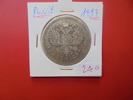 RUSSIE 1 ROUBLE 1897 NICOLAS II. ARGENT - Russie