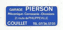 Autocollant , Automobile , GARAGE PIERSON ,  COUILLET ,  Belgique,  CHARLEROI - Autocollants