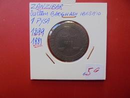 ZANZIBAR (ARCHIPEL TANZANIEN) 1 PYSA 1299 (1881) - Tanzanie