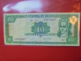 NICARAGUA 10 CORDOBAS 1999 CIRCULER - Nicaragua