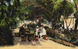 OUDJA (Maroc) Jardin Public Colorisée  RV - Marokko