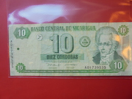 NICARAGUA 10 CORDOBAS 2002 CIRCULER - Nicaragua