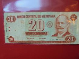 NICARAGUA 20 CORDOBAS 2002 CIRCULER - Nicaragua