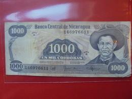 NICARAGUA 1000 CORDOBAS 1985 CIRCULER - Nicaragua