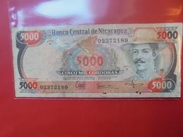 NICARAGUA 5000 CORDOBAS 1985 CIRCULER - Nicaragua