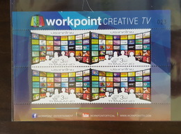 Thailand Stamp 2014 National Communications Day (Workpoint Creative TV) Miniature BLK4 Type 3 - Thaïlande