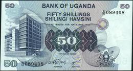 UGANDA - 50 Shillings Nd.(1979) {dark Printing Of Bank Building} UNC P.13 B - Uganda