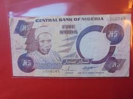 NIGERIA 5 NAIRA 2001 CIRCULER - Nigeria