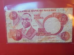 NIGERIA 10 NAIRA 2001 CIRCULER - Nigeria