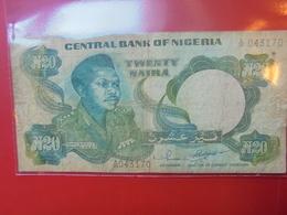 NIGERIA 20 NAIRA 1984-2000 CIRCULER - Nigeria