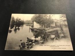 11885 - COUTRAS Les Bords De La Dronne Au Pont Suspendu (Lavandieres) - 1915 Timbrée 2e Groupe D'Aviation - France