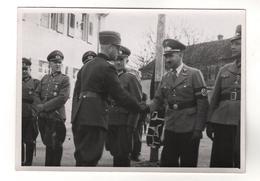 +2776, Original Foto, Deutsche Wehrmacht, Vereidigung 1944, 10 X 7 Cm - Guerra 1939-45