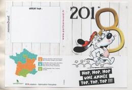CALENDRIER BD UN CHIEN HOP HOP HOP UNE ANNEE TOP TOP TOP  -  ETAT NEUF 2018, VOIR LES SCANNERS - Calendars