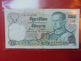 THAILANDE 20 BAHT 1981 CIRCULER - Thailand