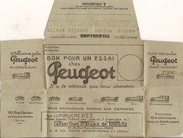 (P).Telegramma Pubblicitario Della Peugeot Viaggiato Il 12-2-1925 (2 Scan) (64-a18) - Automobili