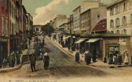 BREST  La Rue De La Porte Colorisée RV - Brest