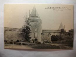 Carte Postale Blain (44) Le Chateau - La Tour Du Pont Levis Et La Tour Des Prisons ( Petit Format 1922  ) - Blain